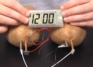 potato battery clock