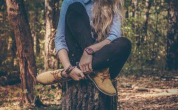 woman on tree