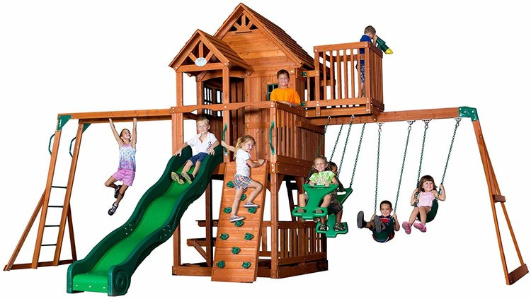 Backyard Discovery Skyfort Swing Set