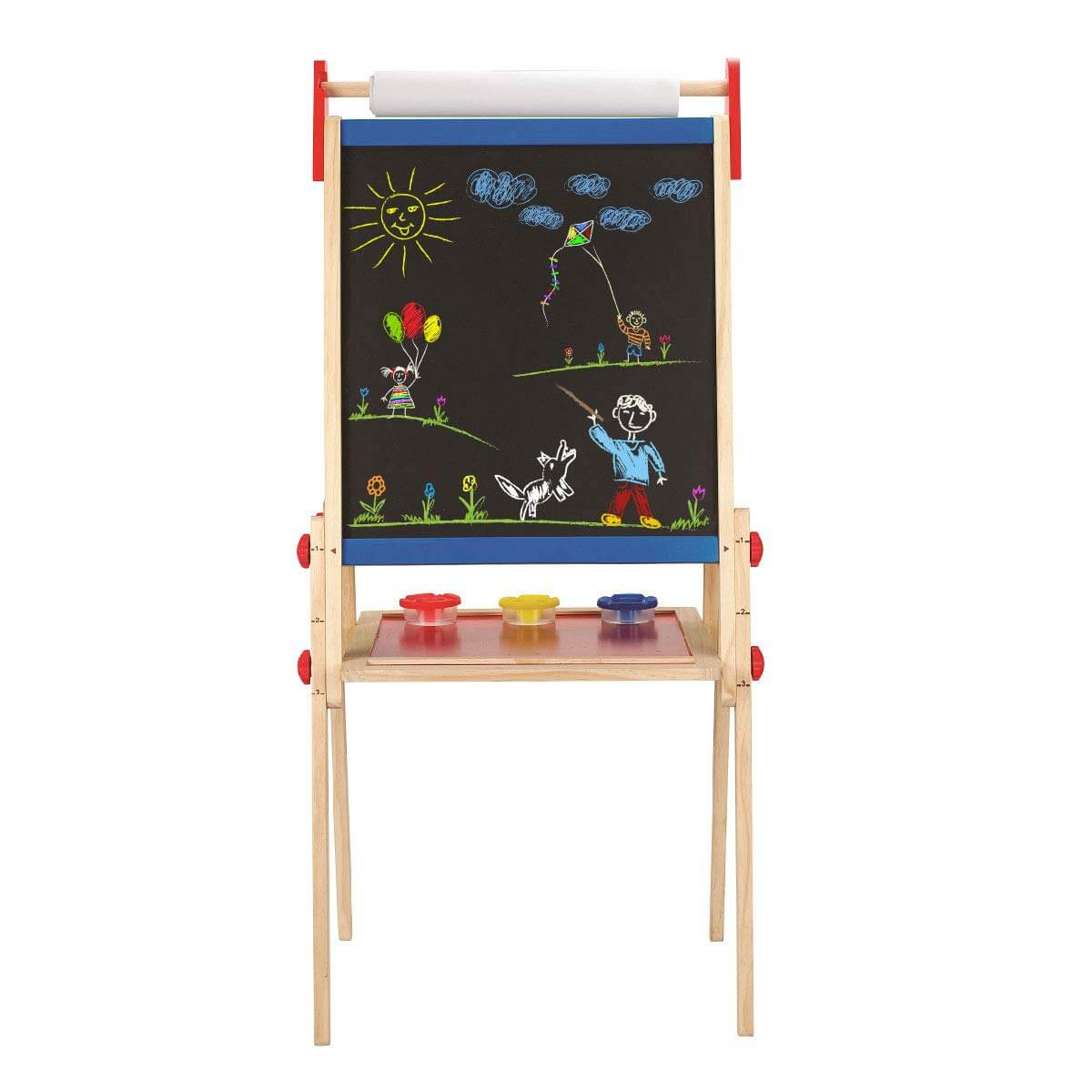 hape all in one wooden kids easel