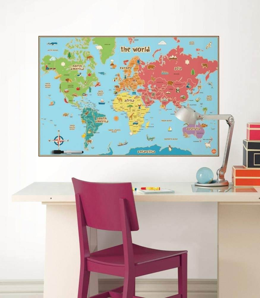 wall pops kids world map