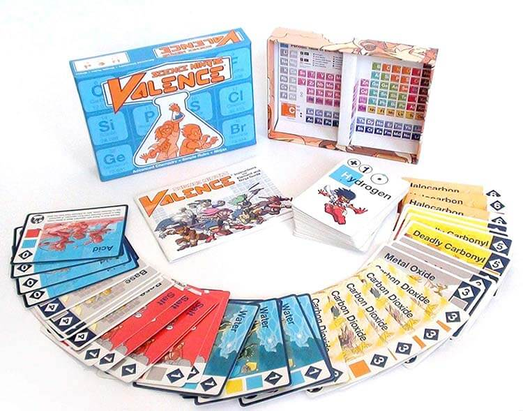 Science Ninjas Valence Card-Game Advanced Chemistry